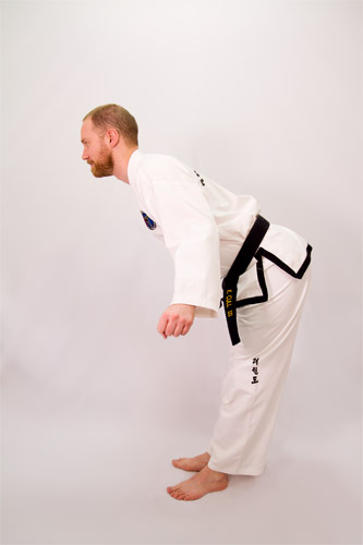 Bad hip position - TKD bow
