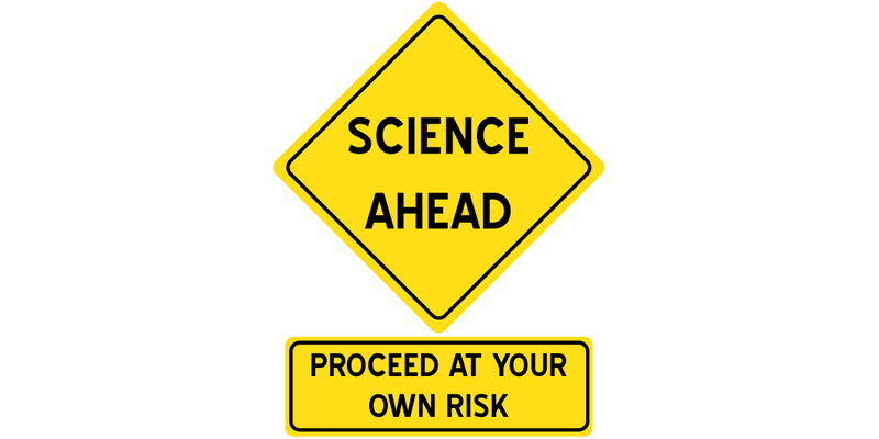 Science Ahead Sign