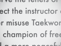 The Origin of Taekwon-Do's Student Oath?