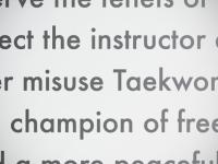 The Origin of Taekwon-Do's Student Oath?