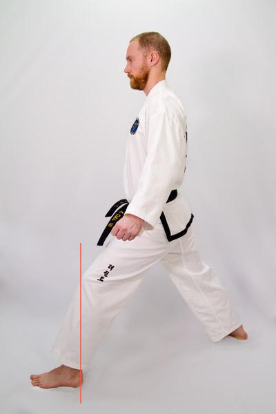Taekwon-Do walking stance