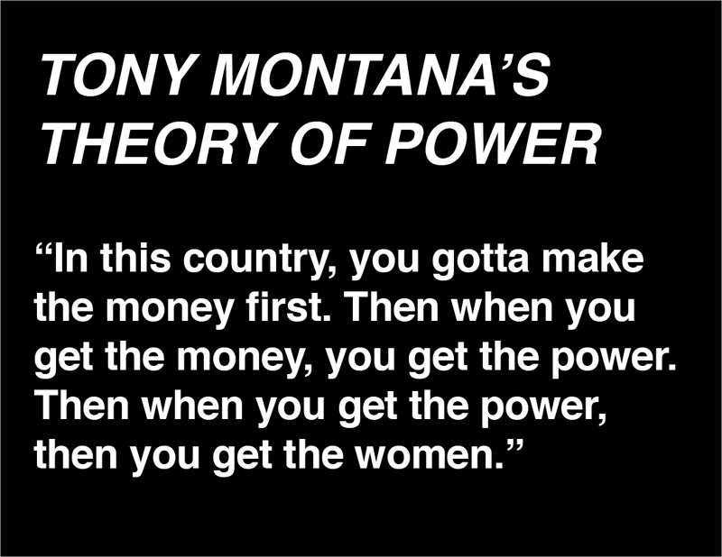 Tony Montana's Theory of Power