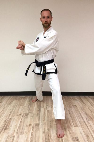 Taekwon-Do low knife-hand block preparation
