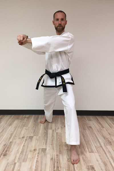 Taekwon-Do inner forearm block preparation