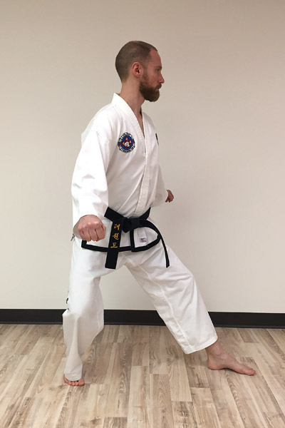 L-stance mistake: turning your shoulders too far to the front