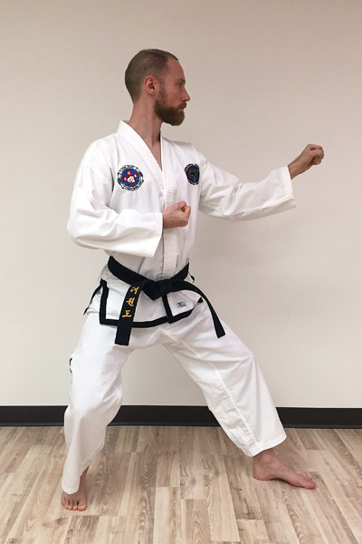 Taekwon-do forearm middle guarding blocks