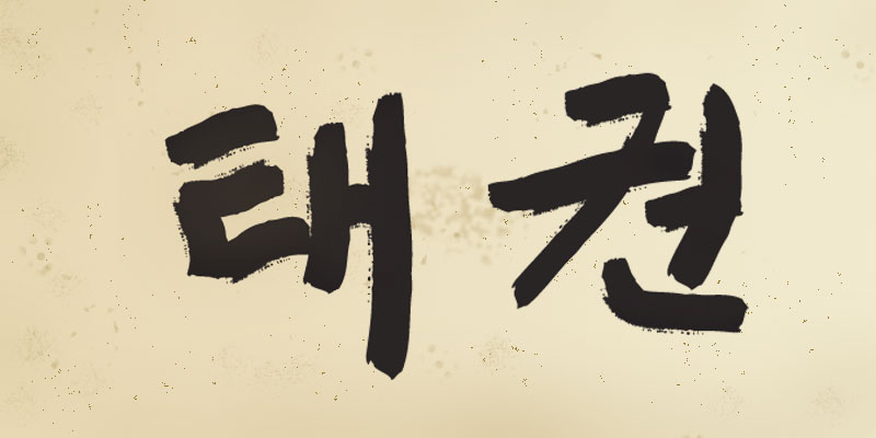 "Korean characters for ""taekwon"""
