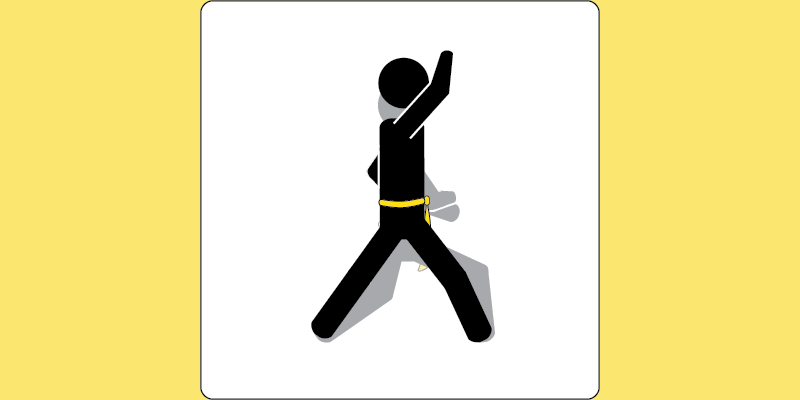 An illustration of continuous motion in taekwon-do