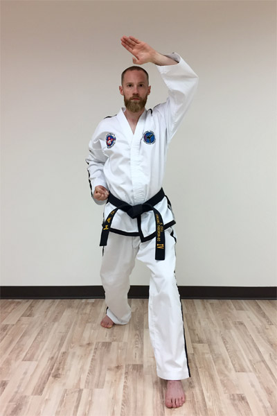 Taekwon-do's knife-hand rising block