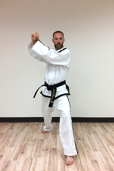 Taekwon-do outer forearm high side block